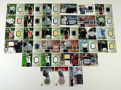 Lot of (31) Assorted Upper Deck Brands Game/Tournament Used Relic Cards