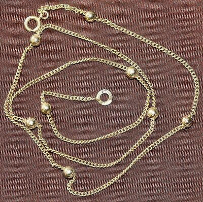 Pretty Dainty Ladies 9Ct Gold Designer Necklace Chain Fully Hallmarked 41Cm Long