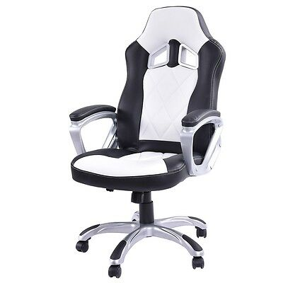 Racing Style Bucket Seat Gaming Chair Swivel Office Desk Task High Back Chair