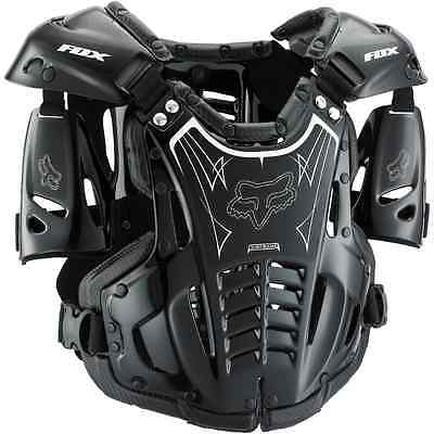 Fox Racing AIRFRAME Roost Deflector Guard Chest Protector MX ATV Off Road BLACK
