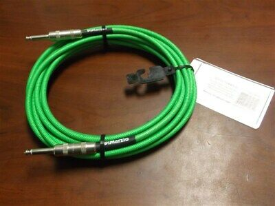 NEW DiMarzio 18' Overbraided Instrument Cable - NEON GREEN, EP1718SSGN