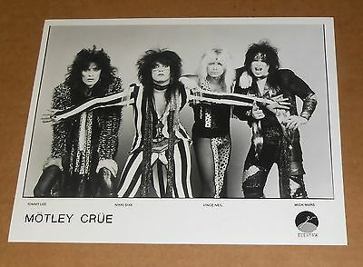Motley Crue Photo Poster Original Promo 8x10 Black & White RARE 80s