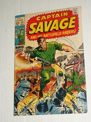 Marvel CAPTAIN SAVAGE & His Battlefield Raiders #12 March 1969