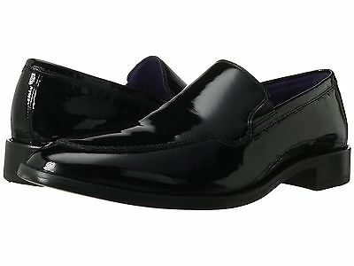 d4a14baf43 Cole Haan Mens Lenox Hill Formal Patent Slip On Loafers Tuxedo Dress Shoes