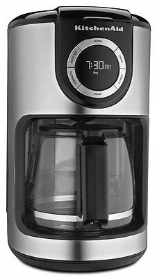 KitchenAid RKCM1202OB 12-Cup Glass Carafe Coffee Maker Onyx Black & Stainless