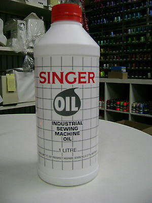 Singer Sewing Machine Oil, 1 Litre bottle, All Purpose, Industrial, Domestic.