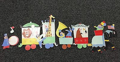 Vintage 60's CIRCUS TRAIN The Dolly Toy Co Wall PIN UP 5 Pcs Elephant Giraffe