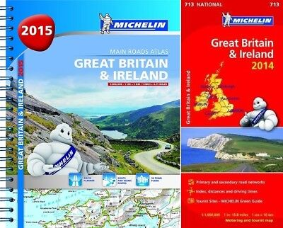 Great Britain & Ireland 2015 - A4 spiral & 2014 National Map 713 (UK Road Atlas)