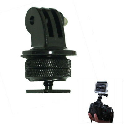1/4'' Hot Shoe Adaptor +Tripod Mount +Screw For GoPro Hero 2/3/3+/4 DSLR Camera