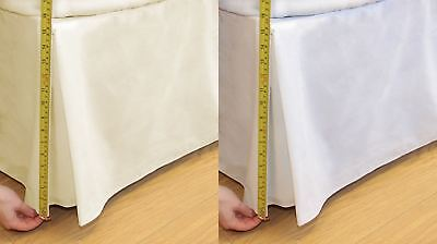 "180 Thread Count Percale Base Valance Mattress Sheet Pleated Bed Skirt 16"" Drop"
