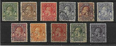 Turks & Caicos Is. Sg176/86 1928 Definitive Set Used
