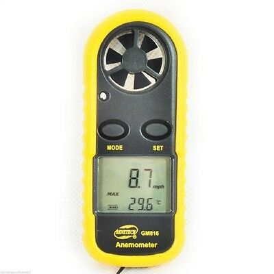 Popular Portable Lcd Digital Anemometer Thermometer Air Wind Speed Meter Tester