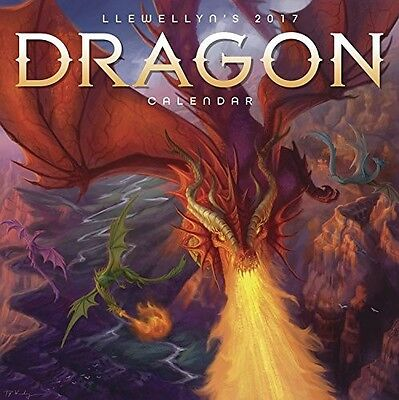 Official Llewellyn's 2017 Dragon Wall Calendar - Square - New & Sealed