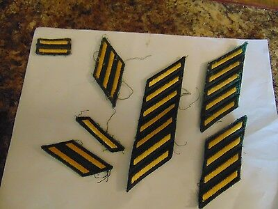 """Us Military Insignia Patch Sew On Service Stripes Or Combat """"please Read Descrip"""