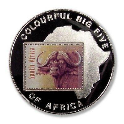 Uganda Water Buffalo Big Five 2001 1000 Shillings Proof Crown Color