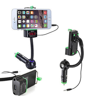 Support Smartphone Kit Mains Libres Bluetooth Transmetteur FM / Allume-cigare