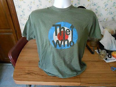 Vintage The Who Shirt Adult L Large Rock Grey Bullseye