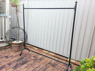 Iron Clothes Rack Coat Rail Display Free Standing Home Fashion Shop DRS011 BLK