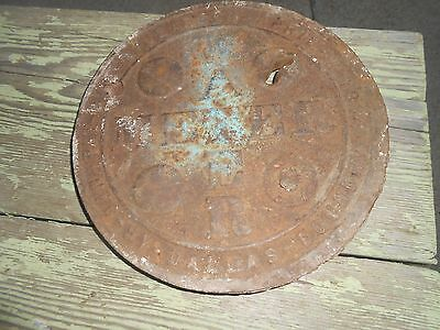 Antique CAST IRON STEAMPUNK WATER METER COVER LID - UNIQUE REPURPOSE INDUSTRIAL