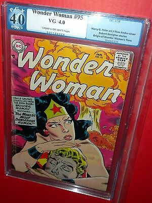 Wonder Woman #95 Atomic Bomb Cover Dc Silver Pgx 4.0 Vg 1958