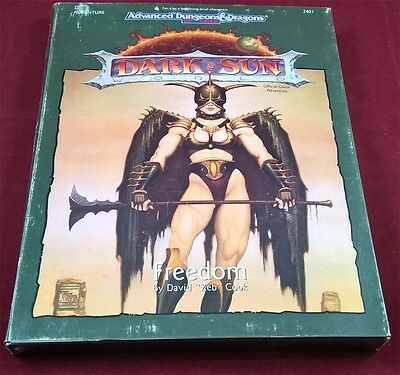 Ad & D Dark Sun Freedom by David Zeb Cook - TSR 2401