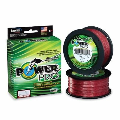 Power Pro Spectra Braided Fishing Line 20 lb Test 1500 Yards Vermilion Red 20lb