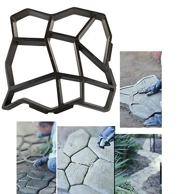 Manually Paving For Garden Brick Molds The Stone Road Plastic Path Maker Molds