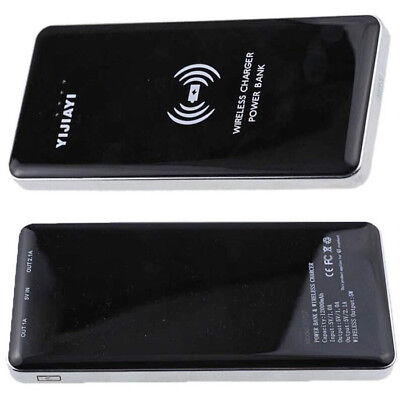 Qi Induction Wireless Battery Charger Pad + Receiver iPhone SE 5 6 + Power Bank