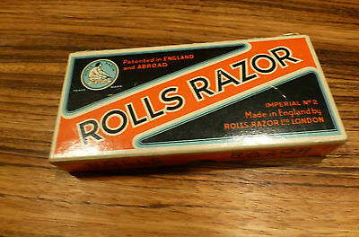 Old 1927 Rolls Razor Imperial Nickel Plated Made in England Box [Y8-W6-A8]