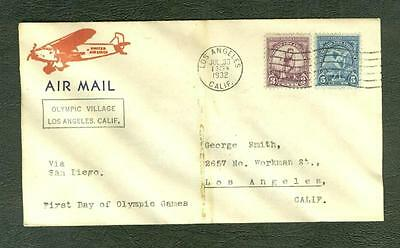 1932 Olympics - opening day cover