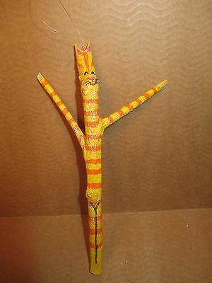 Kitty Cat Stick Figure Ornament Hanging Figurine Handmade Original New