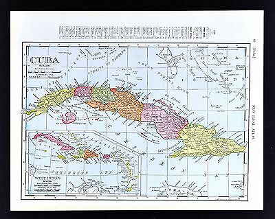 1908 Rand McNally Map - Panama Canal - Colon Ancon Harbor Porto Bello Ship Route