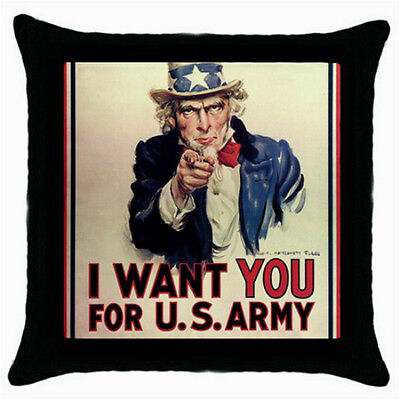 Uncle Sam I want You For The US Army Throw Pillow Case
