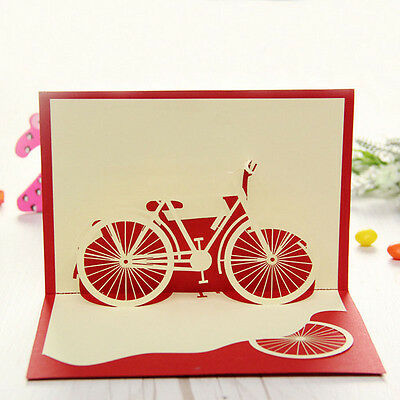 Bicycle Travel 3d Pop Up Card Happy Birthday Valentine Easter