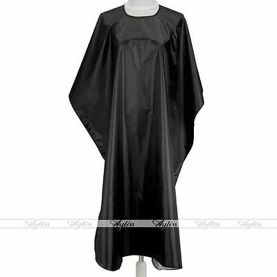 Hair Cutting Barbers Gown Salon Cape Hairdressing Retro Black Long Clothes Cord