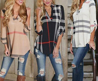 2016 New Summer Casual Women's Loose Long Sleeve Blouse Shirt Tops Fashion Tops