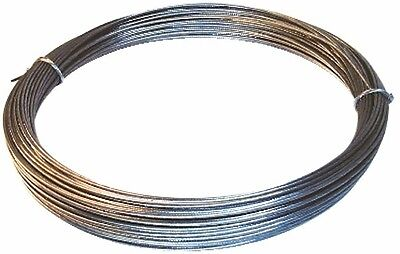 BOWDEN CONTROL CABLE/WIRE GALVANISED MILD STEEL 1.57MM OD x 6 METRES