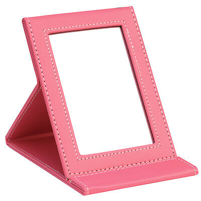 Pink Faux Leather Folding Mirror - By TRIXES Mothers Day