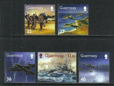 Guernsey 2003 World War II--Attractive Military History Topical (790-94) MNH