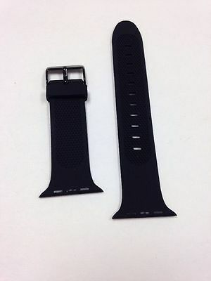 Insignia Silicone Band For Apple Watch 42mm NS-AWB42BLK Black NEW