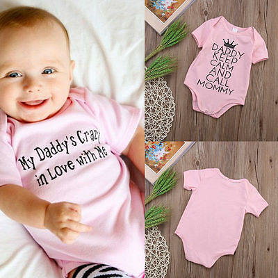 Newborn Kids Baby Infant Girl Cotton Bodysuit Romper Jumpsuit Outfit Clothes TY