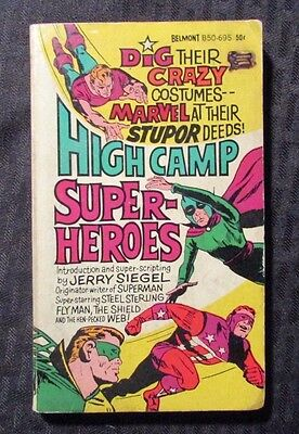 1966 HIGH CAMP SUPER HEROES by Jerry Siegel VG 4.0 1st Belmont Paperback