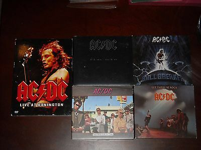 Ac/dc Back Let There Rock Dirty Deeds Ballbreaker Live Donington 4 Cd Dvd Lot