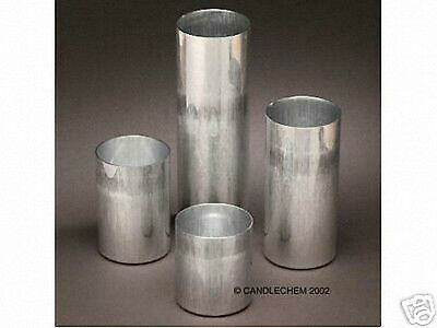 Round Pillar Seamless Aluminum Candle Molds 3 inch size (You Choose Height)