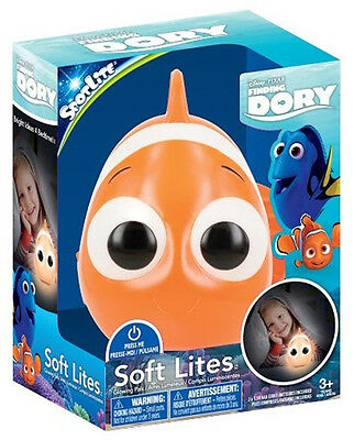 Walt Disney Finding Dory Movie Nemo Figure Soft Lite Soft Formed Glowing Toy NEW