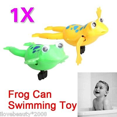 Frog Battery Operated Pool Bath Cute Toy Wind-Up Swim Frogs Kids Toys