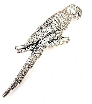 Parrot Finely Handcrafted in Solid Pewter In UK Lapel Pin Badge