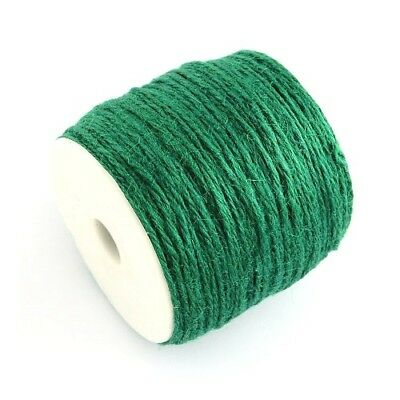 1 x Green Hemp 10m x 2mm Twine Cord Continuous Length Y04845