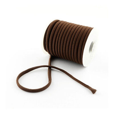 1 x Brown Habotai Stretchy Spandex 2m x 5mm Thong Cord Continuous Length Y04960