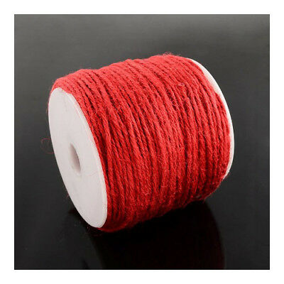 1 x Red Hemp 10m x 2mm Twine Cord Continuous Length Y05190